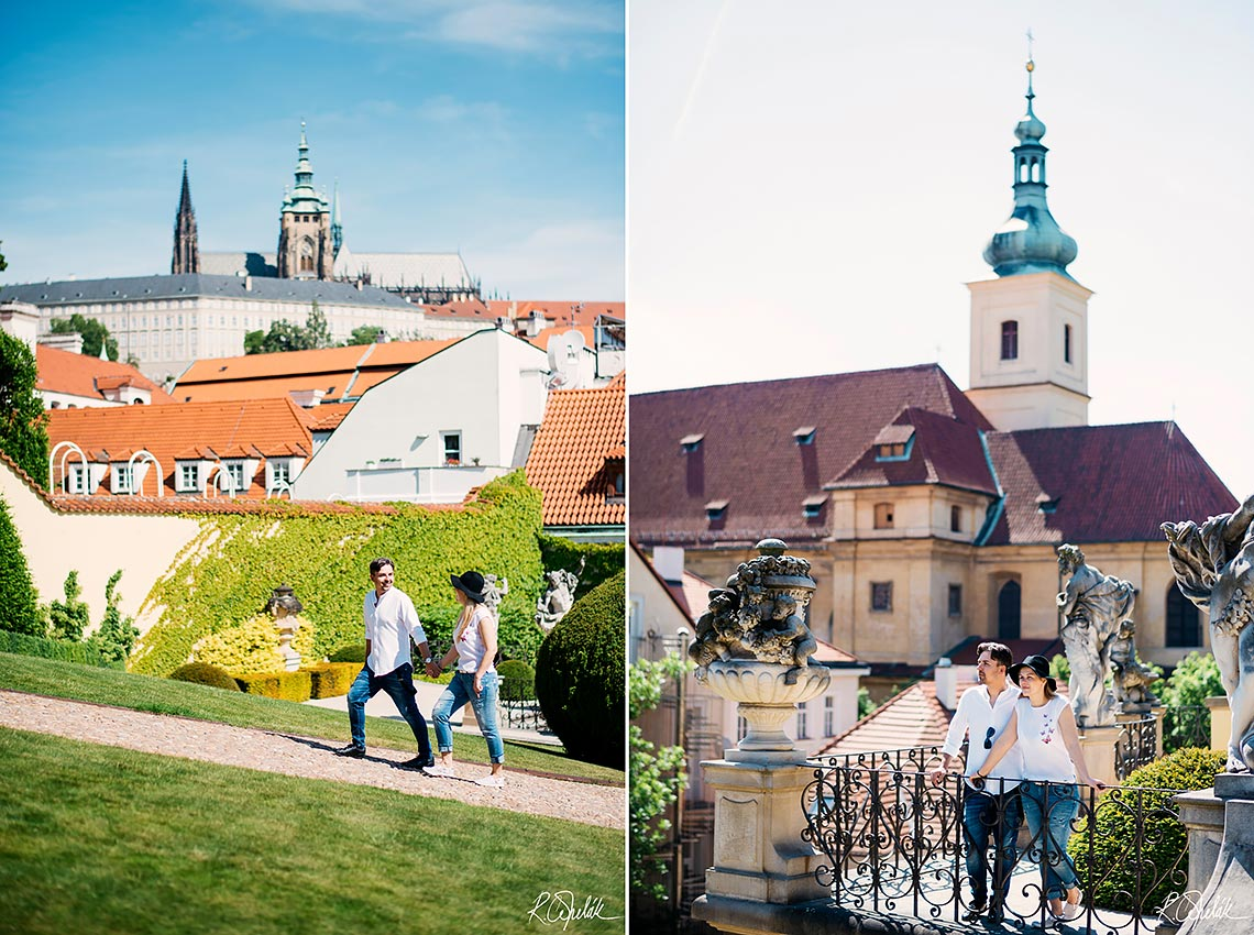 Prewedding photo session in sunny Prague