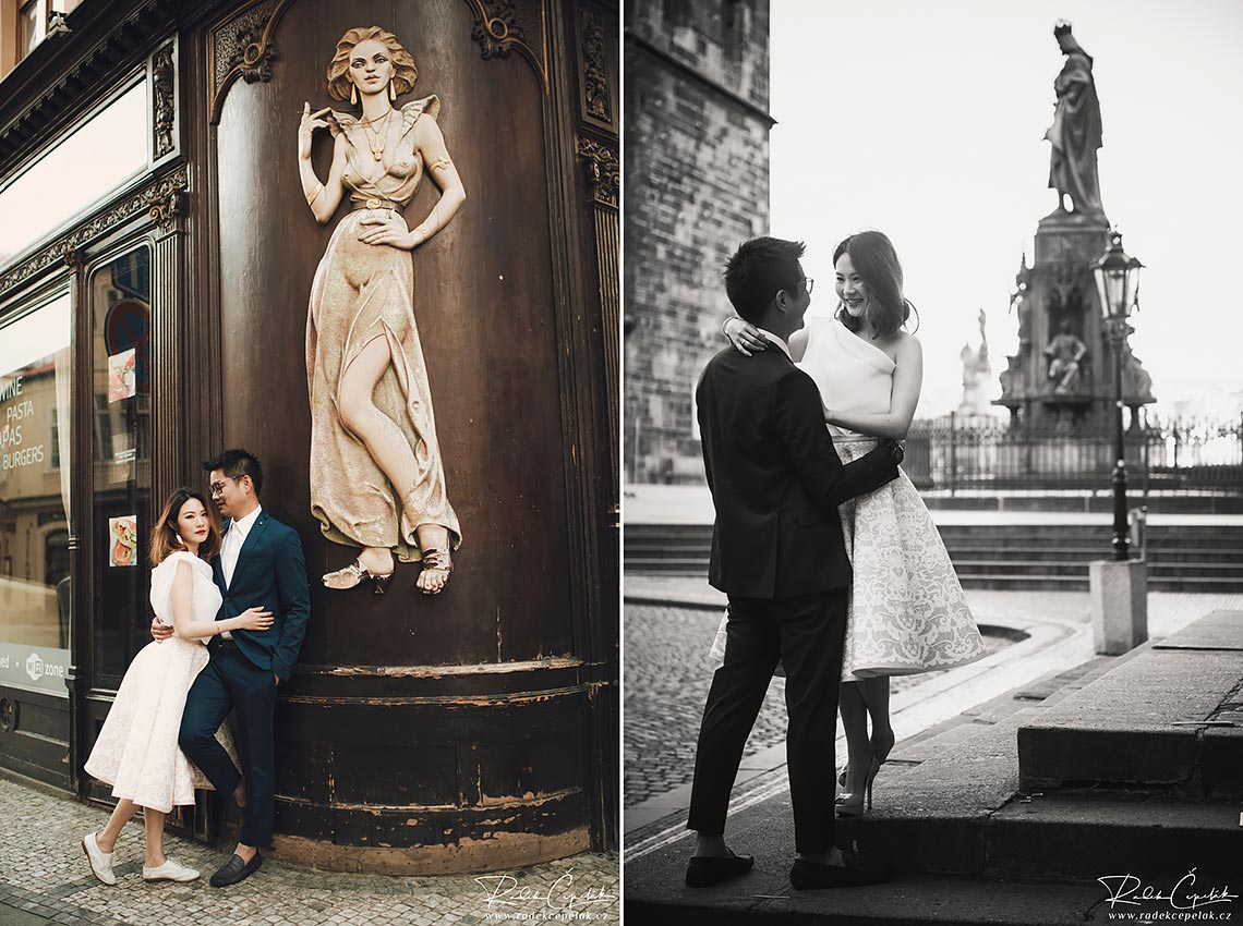 Prague engagement photography