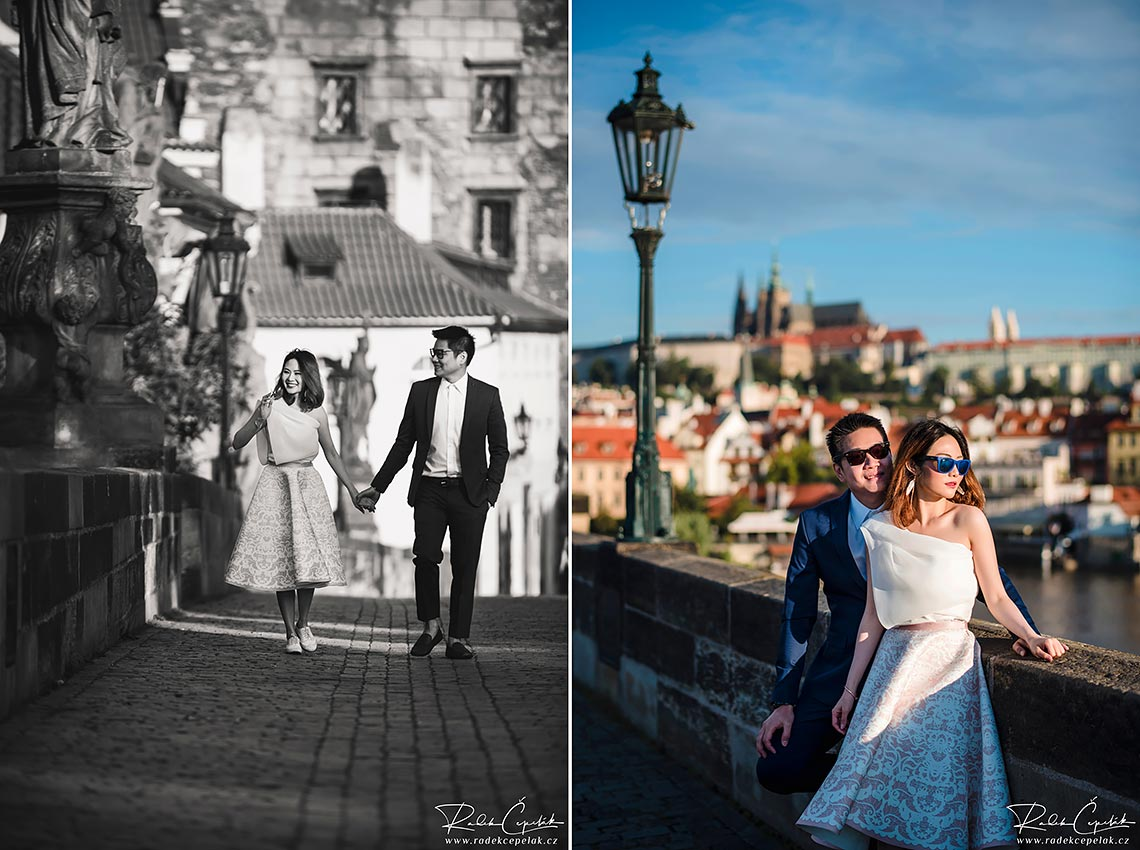 Prague romantic couple photo