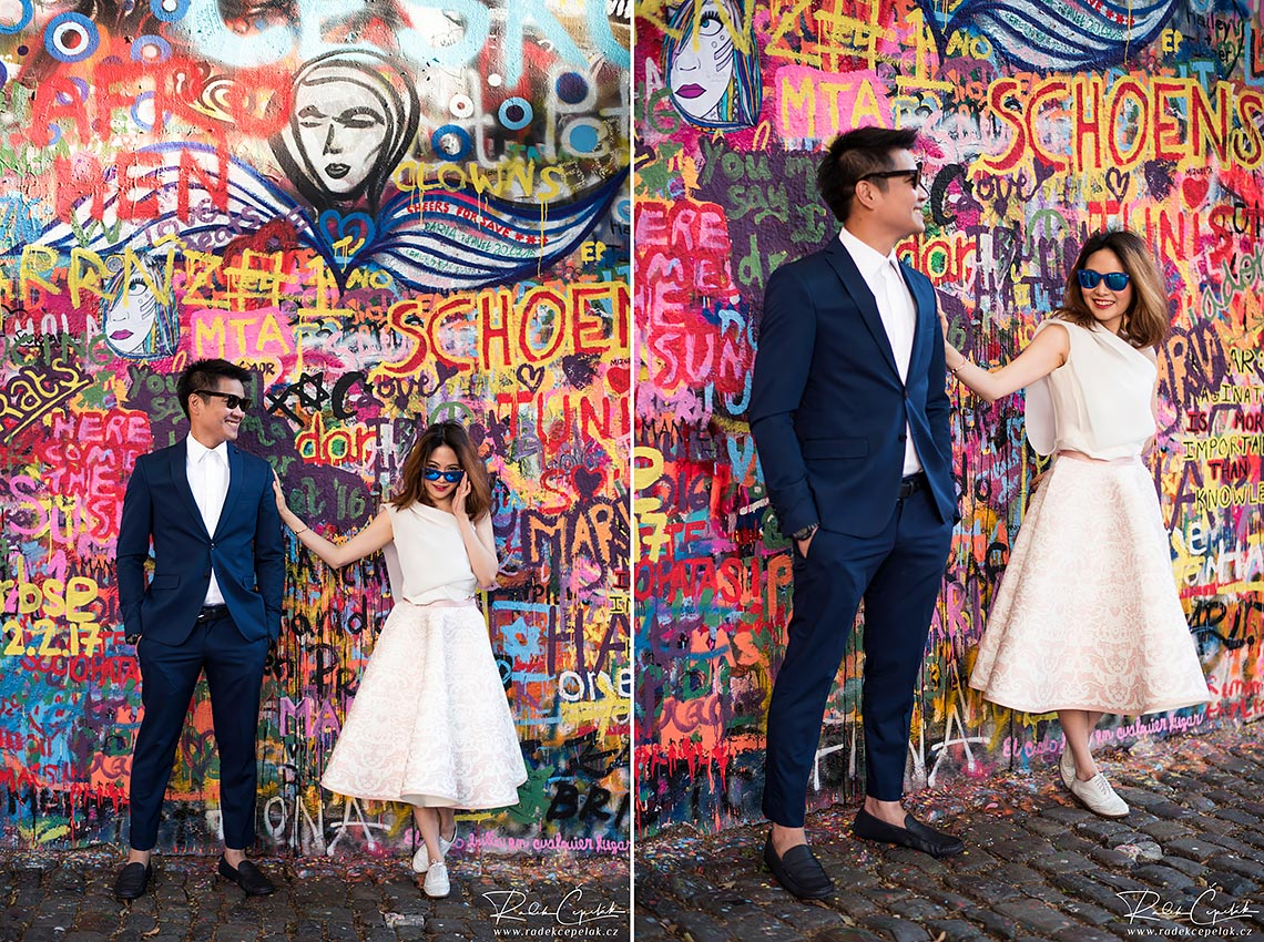 colorful prewedding photography