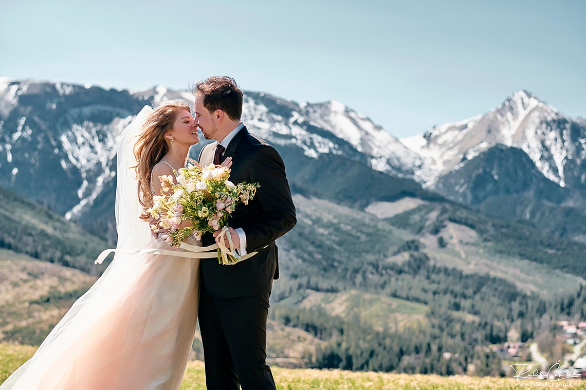 nature mountains wedding photography