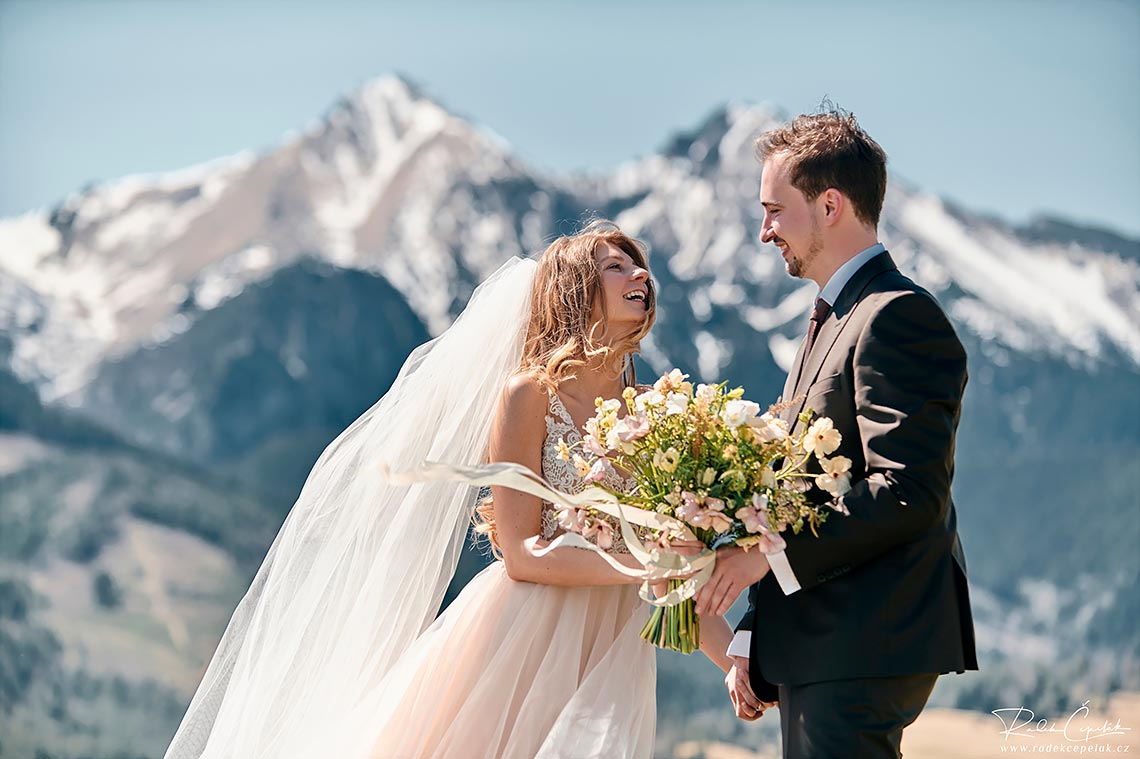 wedding photography in mountains