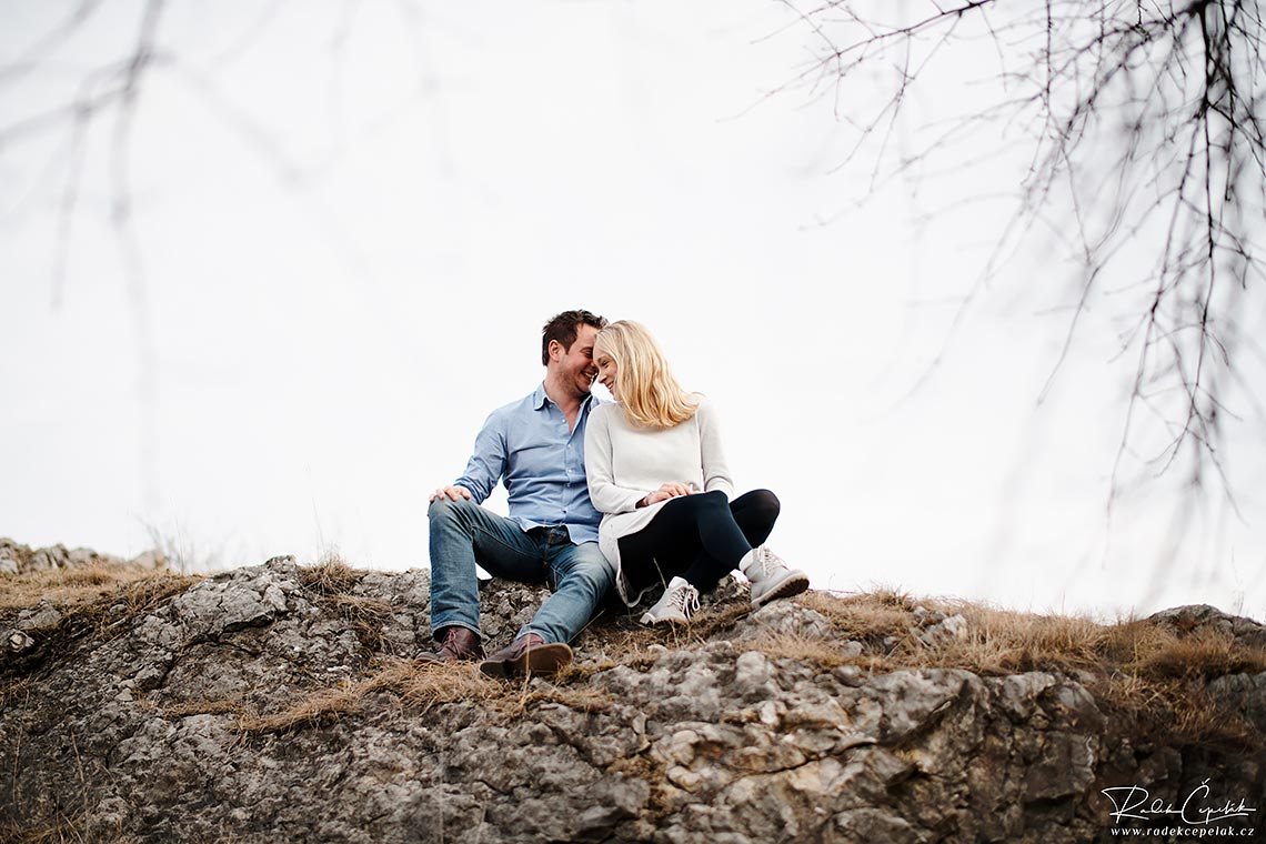 intimate couple engagement photography