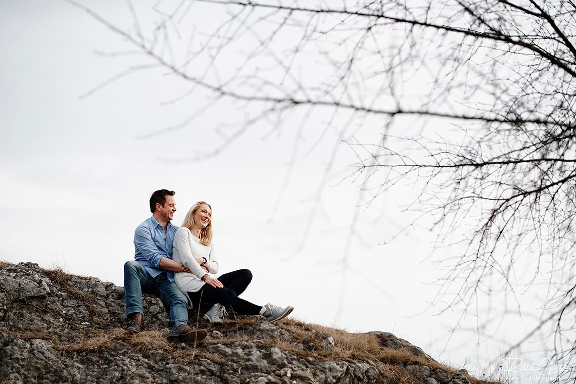 smiling couple engagement photography