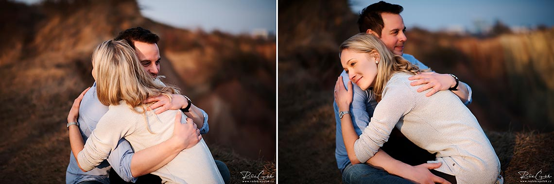 couple photography during sunset time