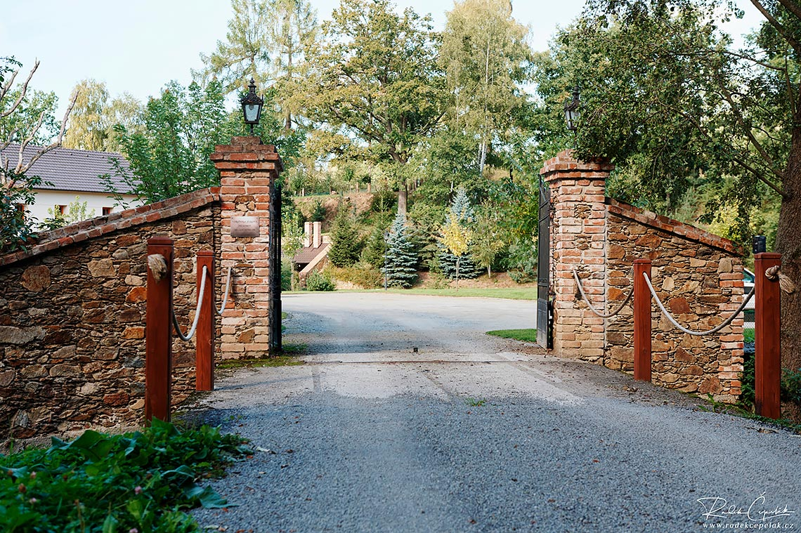 Entrance to a wedding area of Hodejovice mill