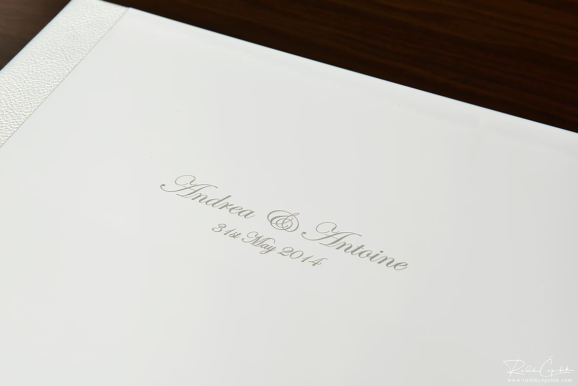 names on wedding album