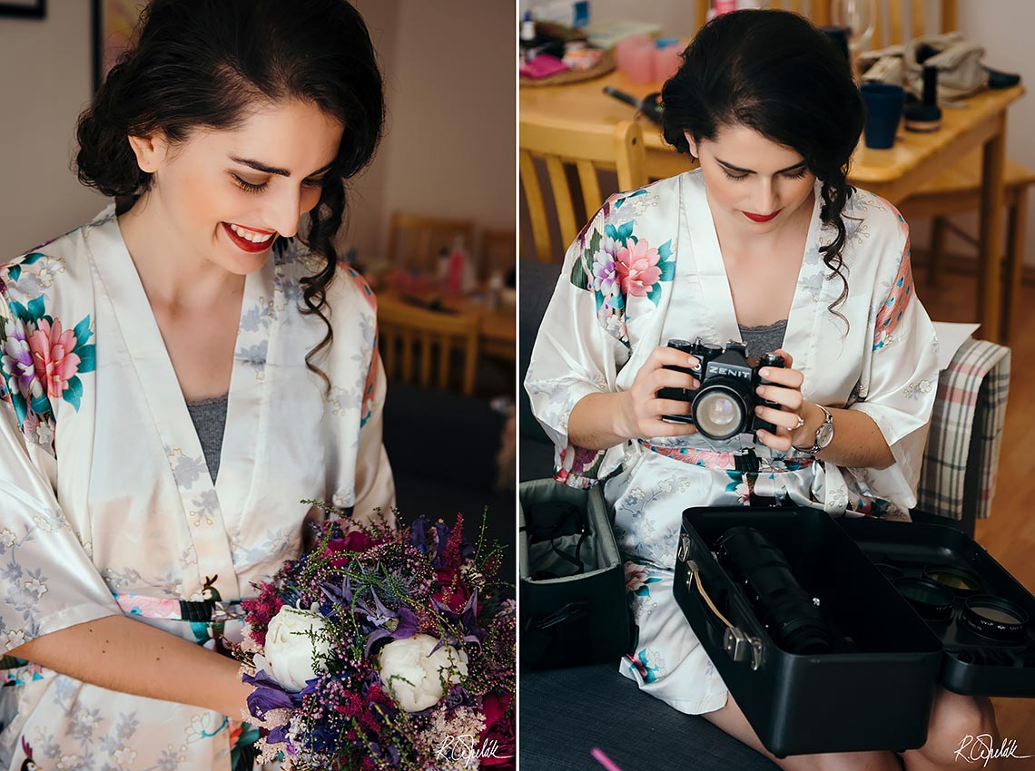 snapshots of bride during getting ready