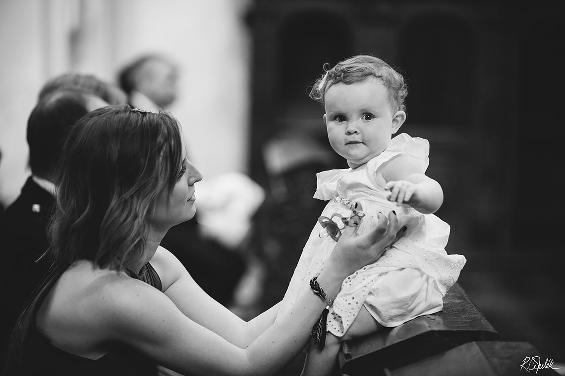 snapshot of small child at wedding in Prague