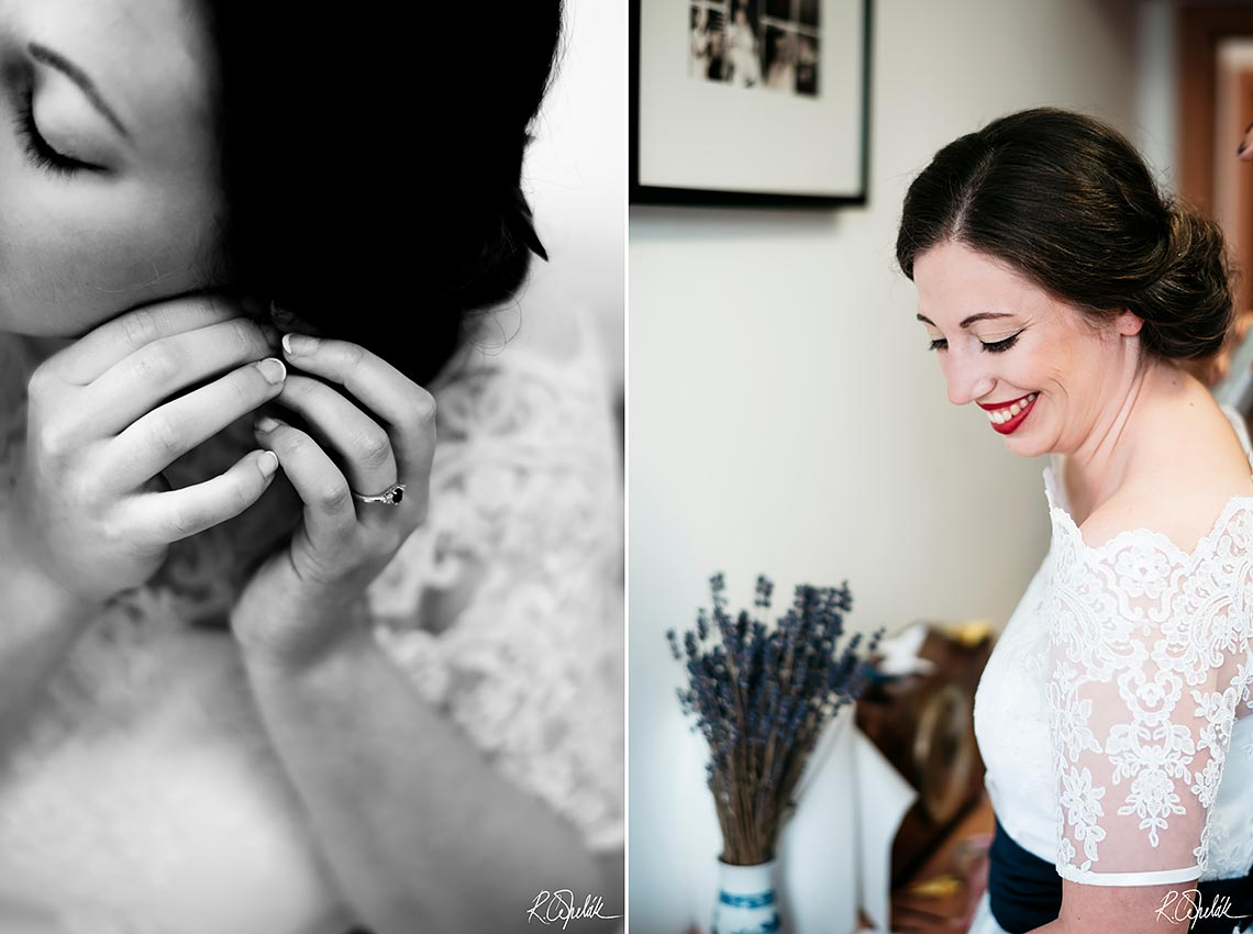 snapshots of bride getting ready