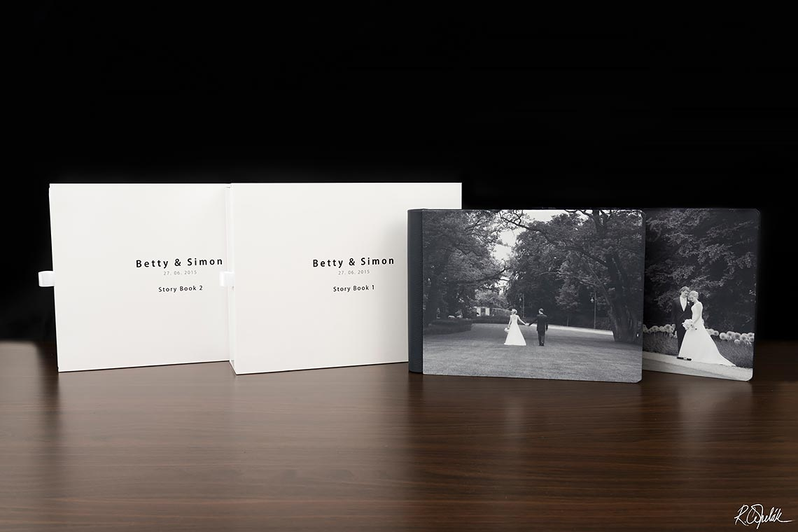 wedding albums with printed cover
