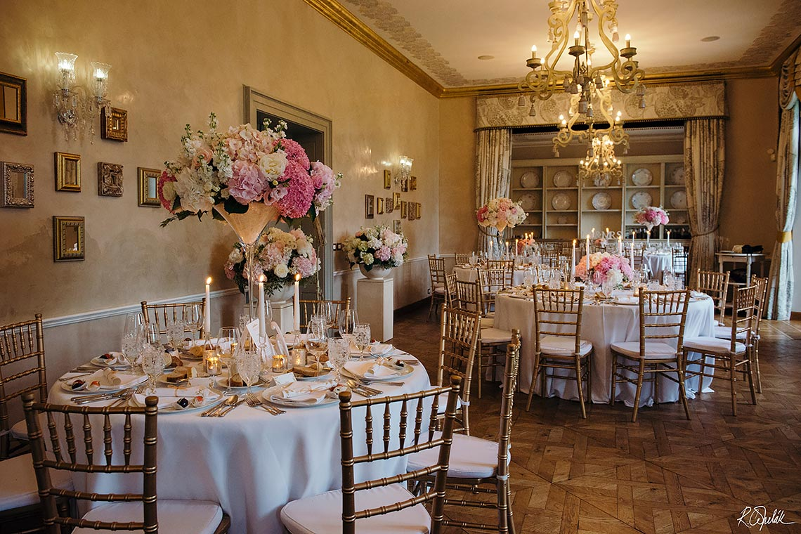 wedding reception in Chateau Mcely
