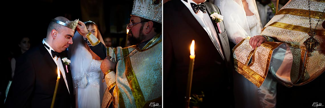 orthodox wedding ceremony in the Church of the Archangel Michael at Petrin in Prague