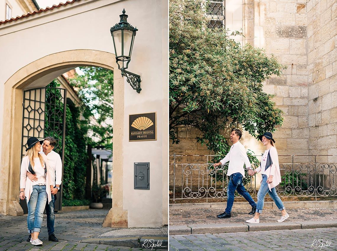 prewedding photography in old town streets in Prague