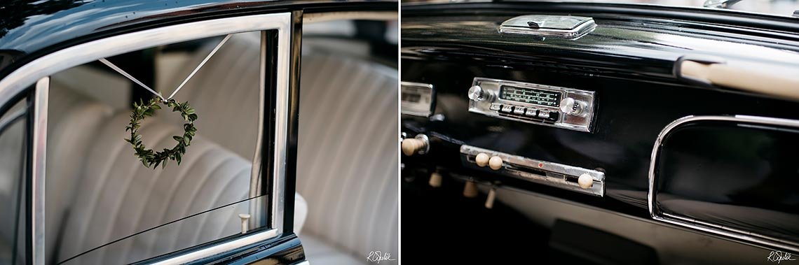 vintage BMW 501 at wedding