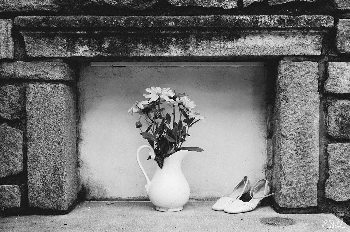 bride wedding shoes still life