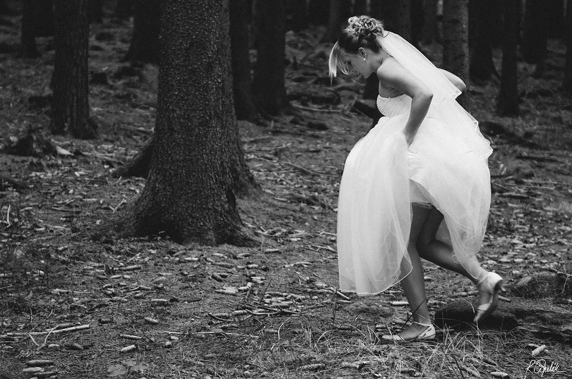 bride in the forest