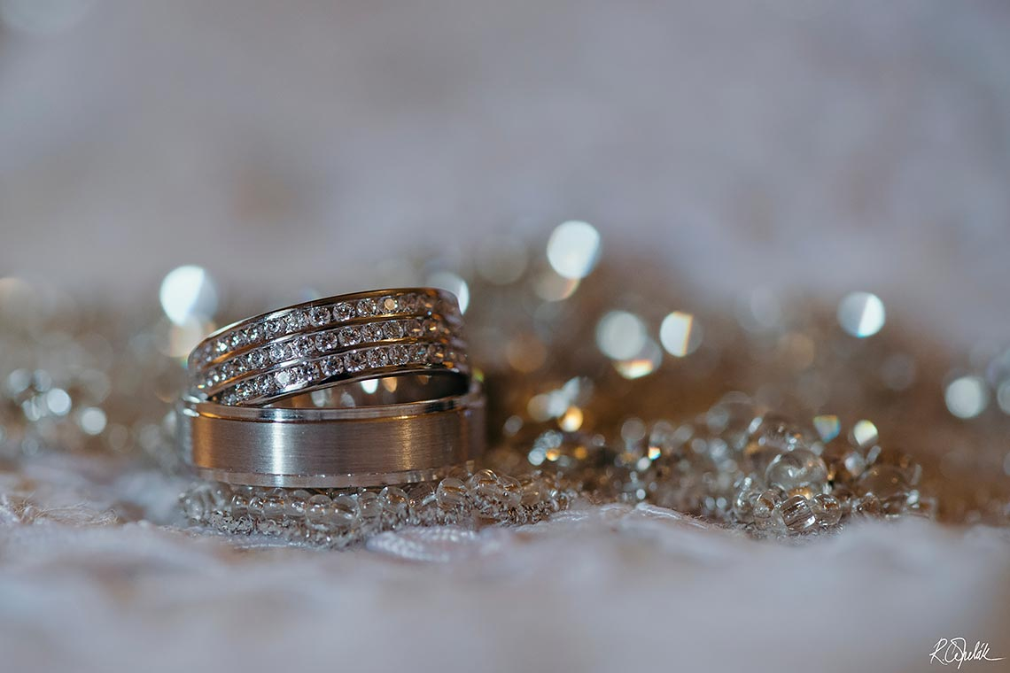wedding bands macro photography