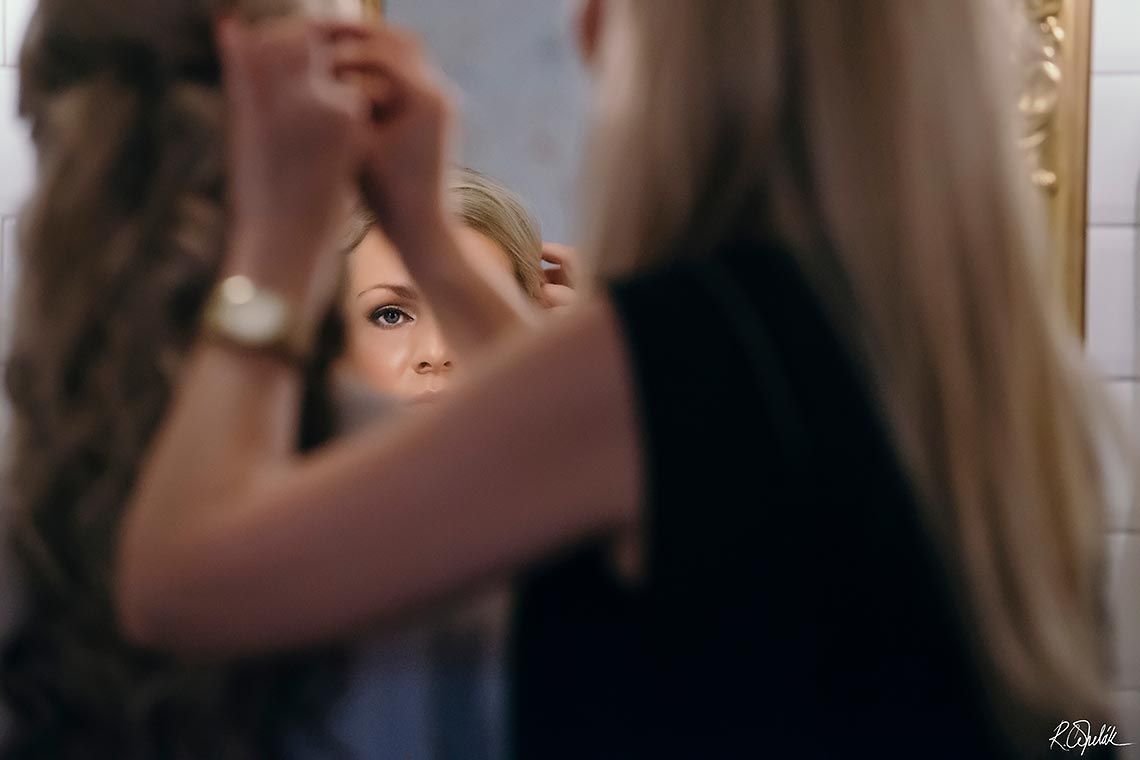 snapshot of bride during getting ready