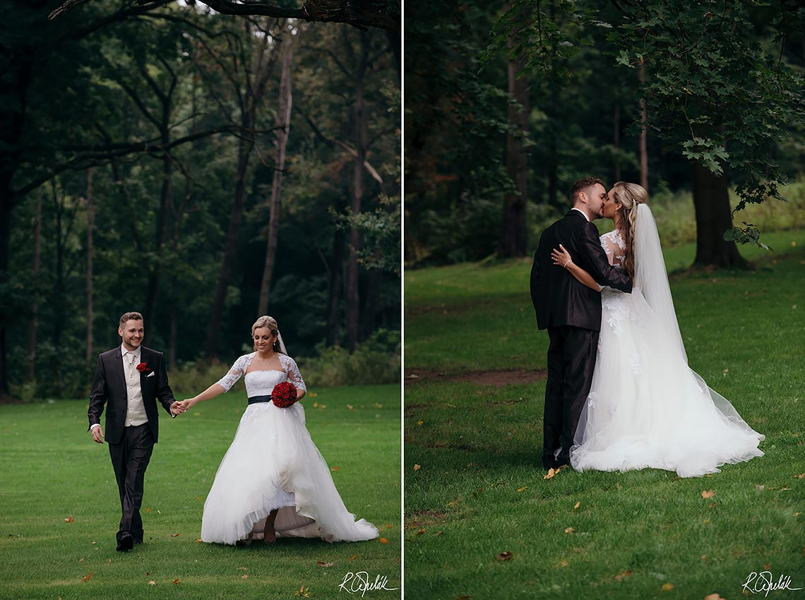 newlyweds photos at Chateu St. Havel in Prague